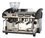 Expobar New Elegance 2 group traditional espresso machine with integral grinder
